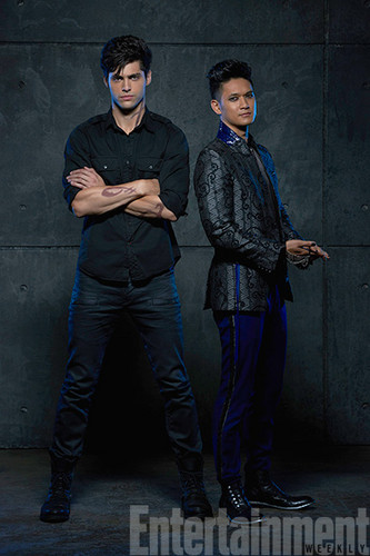 Alec & Magnus wallpaper with a business suit and a well dressed person titled Shadowhunters - Malec - Promotional Photo