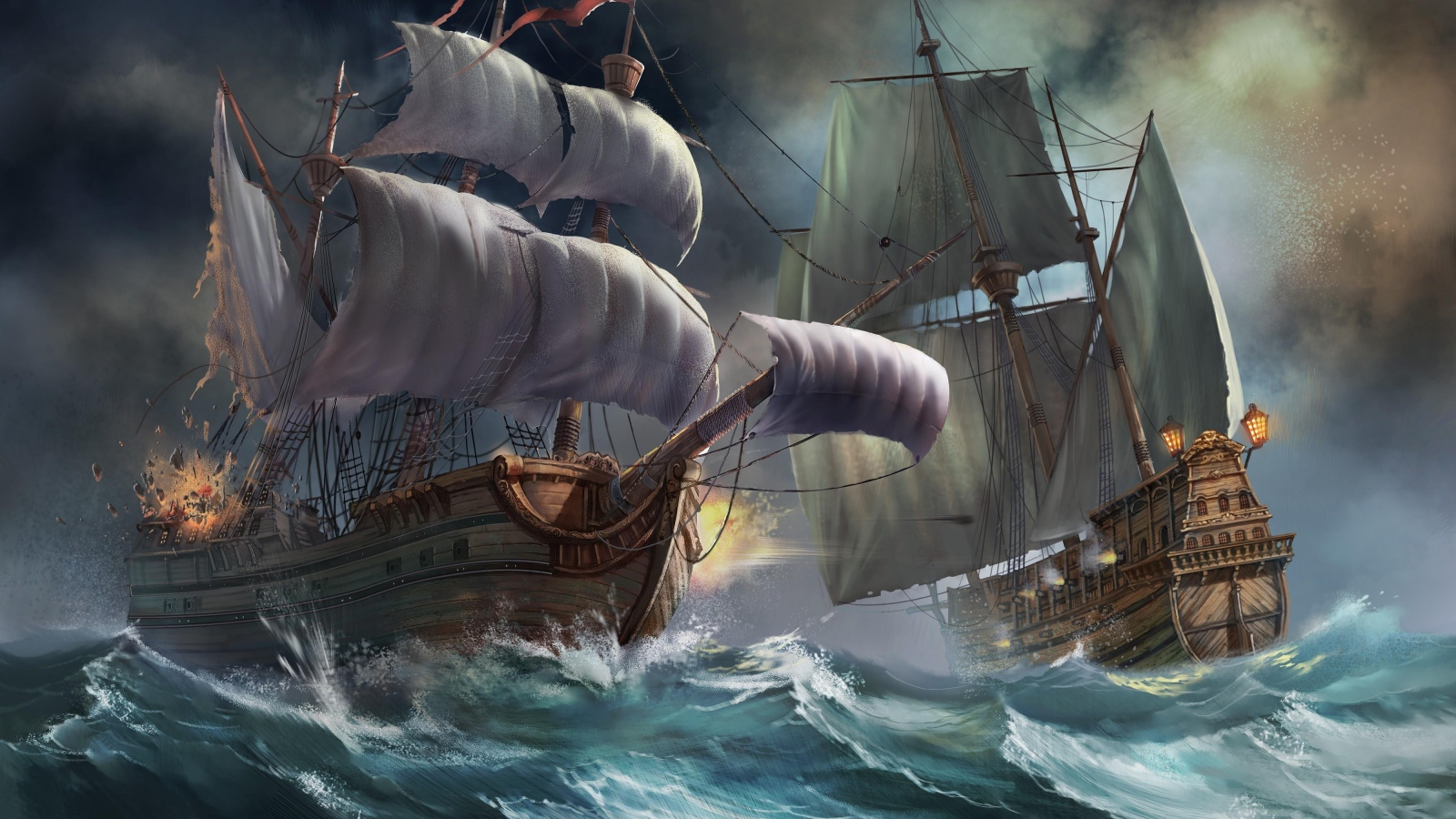 Pirates Images Ships In A Storm HD Wallpaper And