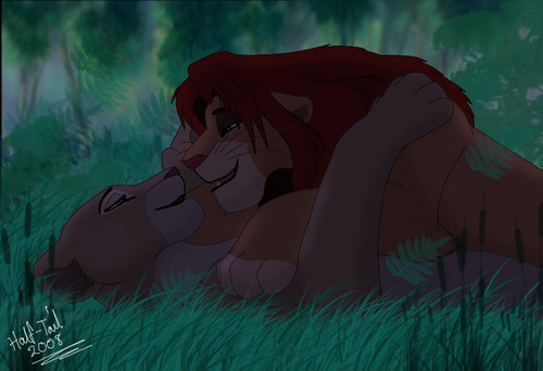 The Lion King wallpaper entitled Simba and Nala having their moment together :^)