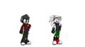 Slits e *meu irmão não tem nome de personagem ele esta pensando* - sonic-fan-characters photo
