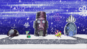 Spongebob Squarepants Winter Desktop Background