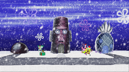 Spongebob Hintergrund entitled Spongebob Squarepants Winter Desktop Background