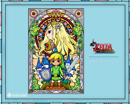 The Legend of Zelda wallpaper with anime entitled Stained Glass Wallpaper