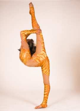 Stand split contortion