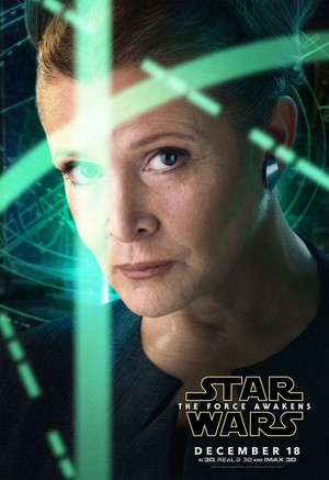 星, つ星 Wars: The Force Awakens Character Poster - Princess Leia