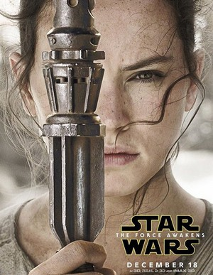 estrela Wars: The Force Awakens Character Poster - Rey