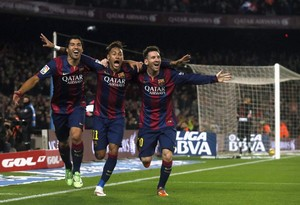 Suarez , neymar and Messi