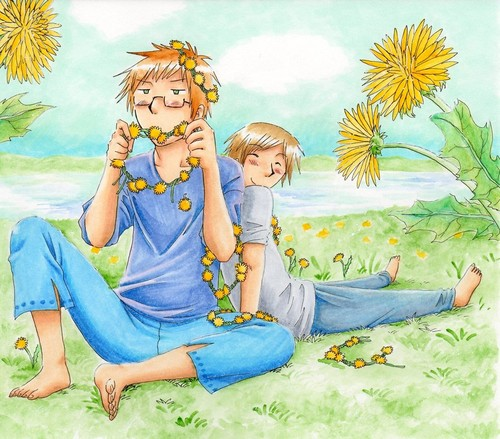 Hetalia Couples! wallpaper entitled Summer. SuFin