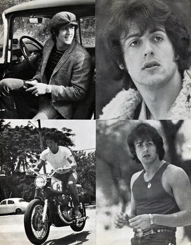 Sylvester Stallone wallpaper probably with a street and a motorcyclist called Sylvester Stallone