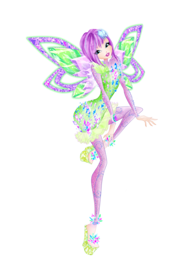 Winx Club fond d'écran with a beardless iris, a bouquet, and a bearded iris called Tecna Tynix (PNG Version)