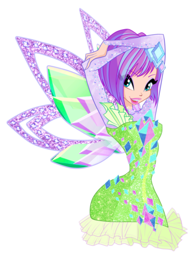 Winx Club karatasi la kupamba ukuta possibly containing a fleur de lis called Tecna Tynix