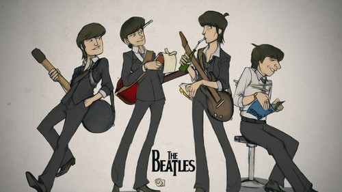 John Lennon 바탕화면 possibly containing 아니메 titled The Beatles