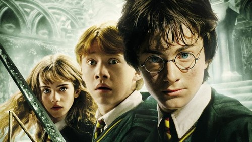 Harry Potter kertas dinding titled The Chamber of Secrets