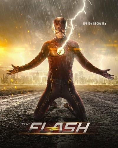 The Flash (CW) वॉलपेपर probably containing a hip boot, a leotard, and a फव्वारा titled The Flash - Season 2 - Poster
