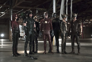 The Flash and Arrow - First Look Promotional Photo from Crossover