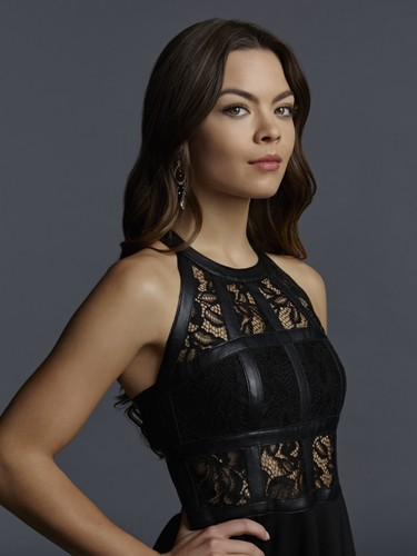 The Vampire Diaries پیپر وال possibly containing a کاک, کاکٹیل dress, a chemise, and a bustier, بسٹیر titled The Vampire Diaries Nora Hildegard Season 7 Official Portrait