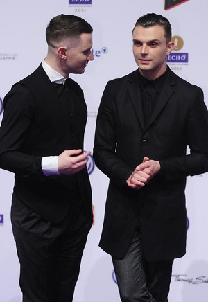 Theo and Adam on the red carpet