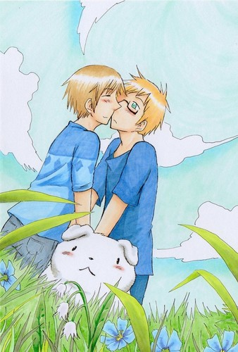 Hetalia Couples! wallpaper probably with anime called This is cute