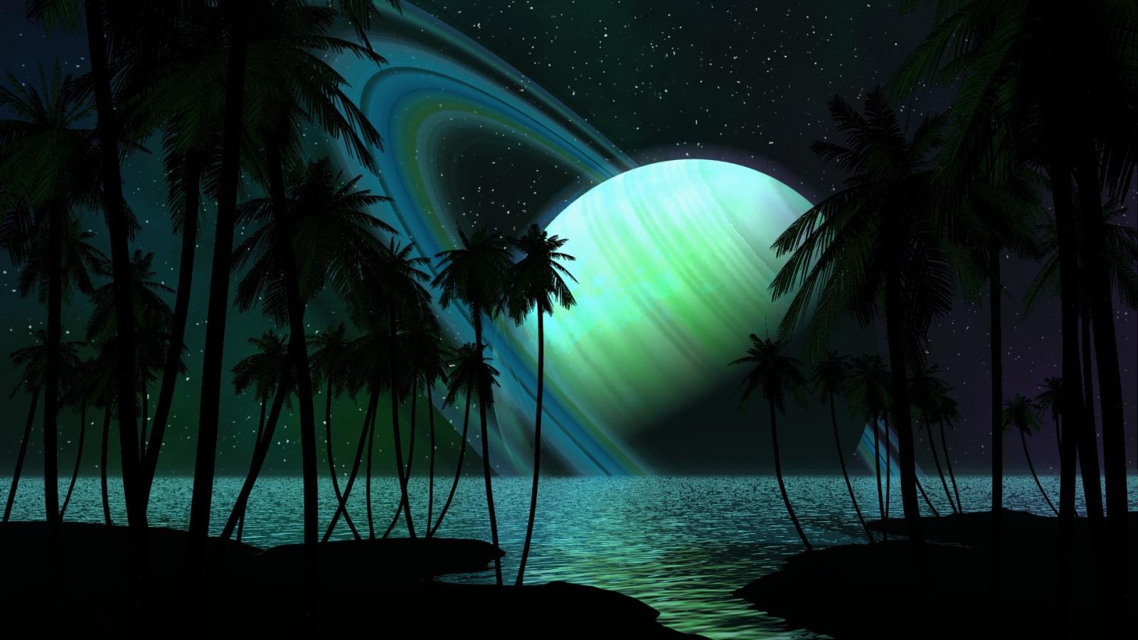 Tropical Alien Beach