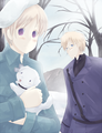 Two Nordics And A Dog - hetalia-couples photo