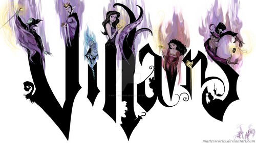 Disney Villains karatasi la kupamba ukuta entitled VILLANS are GO with EVILNESS!!