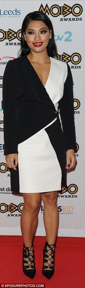 Vanessa at the MOBO awards
