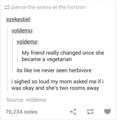 Vegetarian Pun