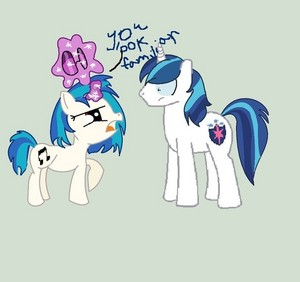 Vinyl Scratch and Shining Armor