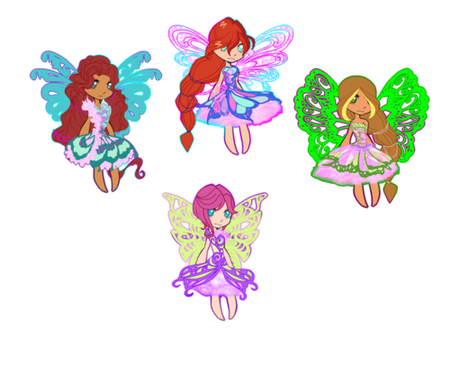 The Winx Club wallpaper probably with a rose titled Winx Butterflix Chibi