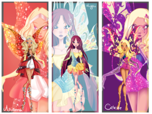 Winx अगला Gen: Arianna, Lyric, and Celeste's Enchantix
