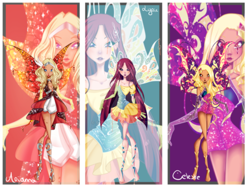 윙스 클럽 바탕화면 titled Winx 다음 Gen: Arianna, Lyric, and Celeste's Enchantix