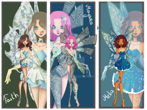 Winx siguiente Gen: Faith, Mayara, and Melia's Enchantix