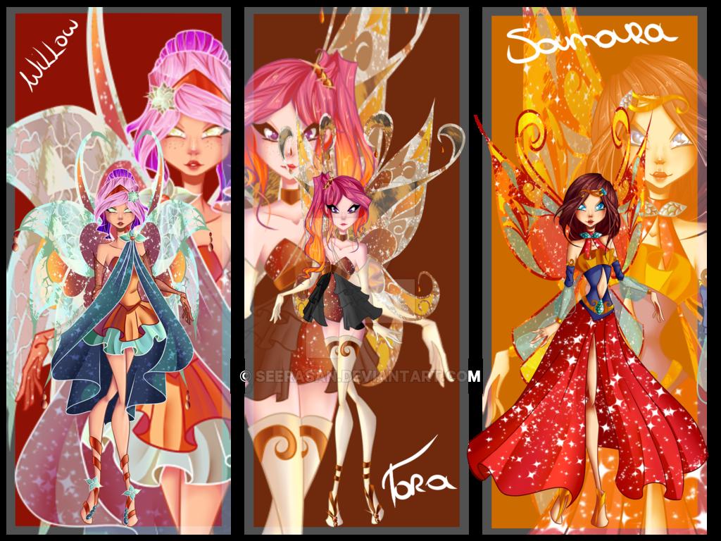Winx Next Gen: Willow, Tora, and Samara's Enchantix