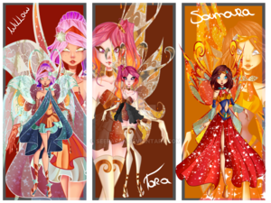 Winx suivant Gen: Willow, Tora, and Samara's Enchantix