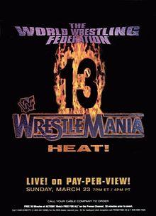 Wrestlemania 13 Poster Small