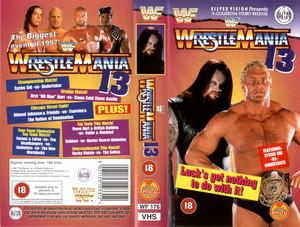 Wrestlemania 13 UK VHS Cover