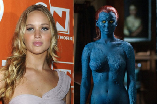 Jennifer Lawrence wolpeyper titled X-MAN Jennifer Lawrence
