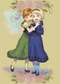 Young Anna and Elsa - frozen fan art