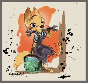 Zootopia Early Concept Art - Deleted Character