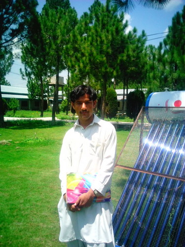 Shahid Afridi fond d'écran with a solar thermal system called asim tanha