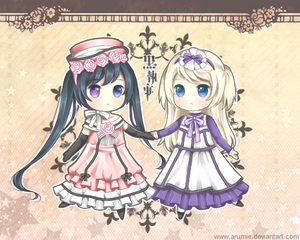 ciel and alois girl outfits Чиби