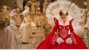evil reyna peacock dress