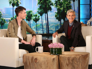 greyson chance catches up with ellen