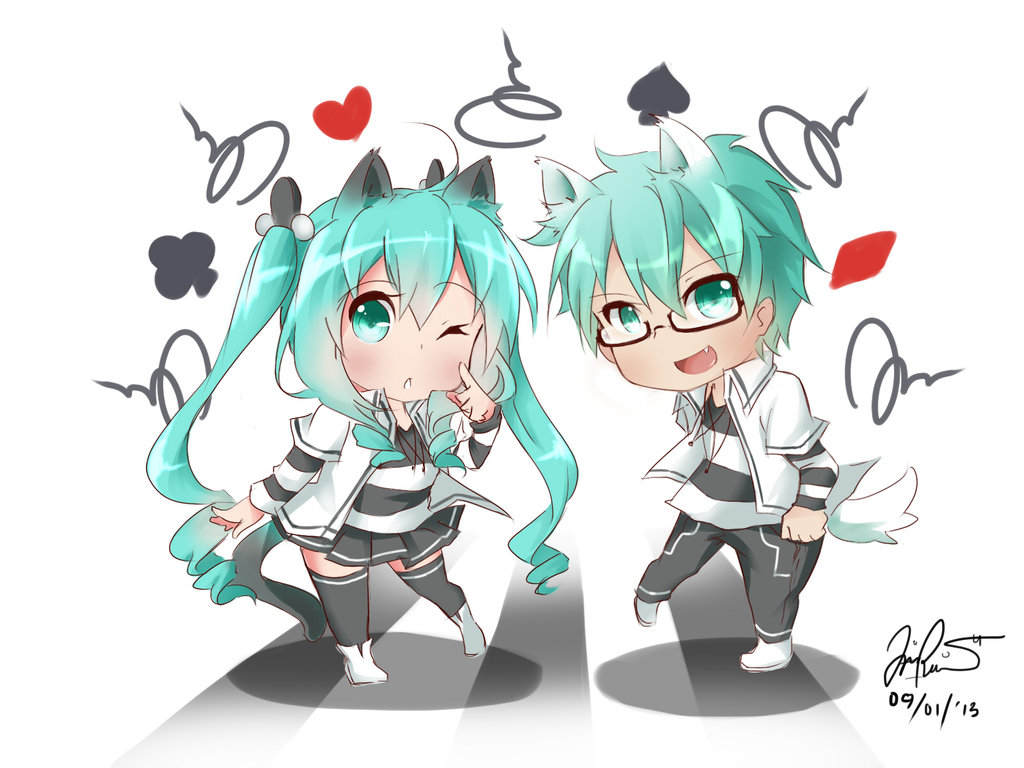 hatsune miku x mikuo by chiirionne d5r0bly