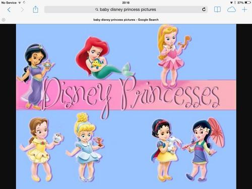 little disney princesses پیپر وال called image