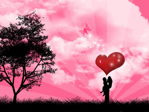 Love wallpaper possibly containing a meteorological balloon called in love normal