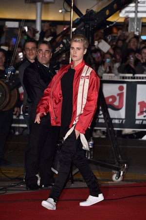 justin bieber NRJ muziki Awards in Cannes, France