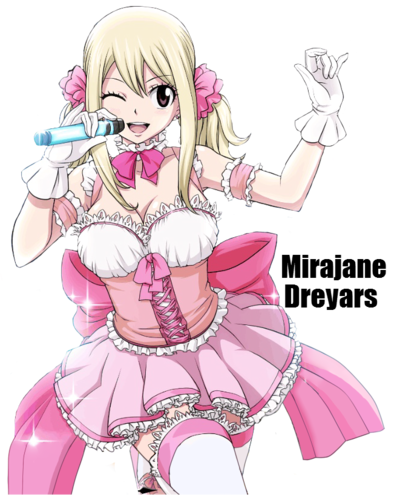fairy tail ( Lucy Heartfilia ) wallpaper possibly with animê entitled lucy heartfillia por mirajane...
