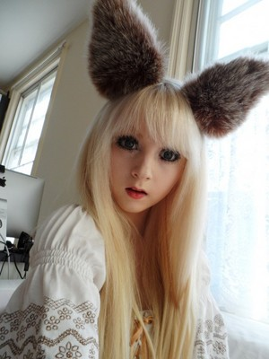me with blond hair