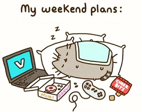 Pusheen The Cat Wallpaper Possibly With A Sign And Anime Called My Weekend  Plans